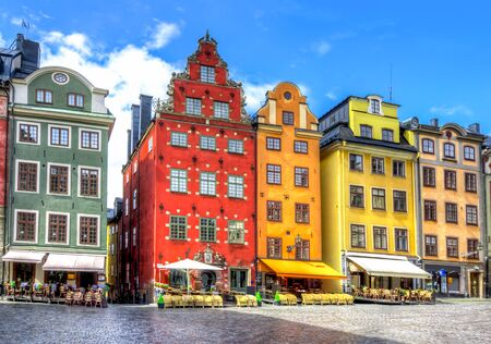 Foto de Stortorget square in Stockholm old town, Sweden - Imagen libre de derechos