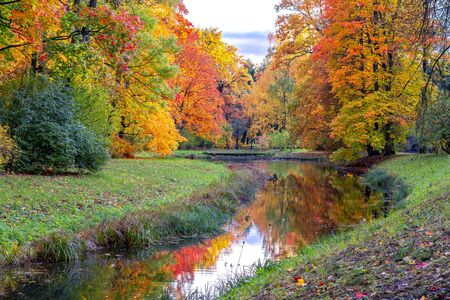 Photo for Catherine park in autumn, Tsarskoe Selo (Pushkin), St. Petersburg, Russia - Royalty Free Image