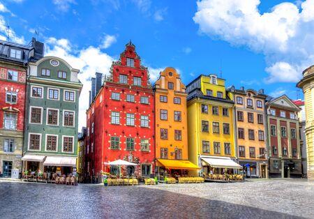 Photo pour Stortorget square in Stockholm old town, Sweden - image libre de droit