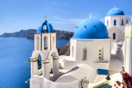 Photo for Traditional church in Oia, Santorini, Greece - Royalty Free Image