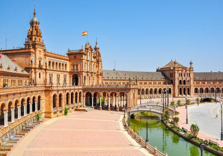 Photo pour Spain square in Seville, Spain - image libre de droit