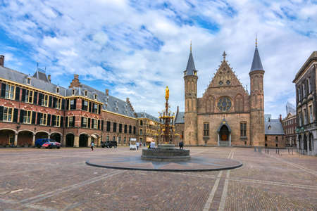 Foto de Hall of the Knights (Ridderzaal) in courtyard of Binnenhof (Dutch parliament), the Hague, Netherlands - Imagen libre de derechos