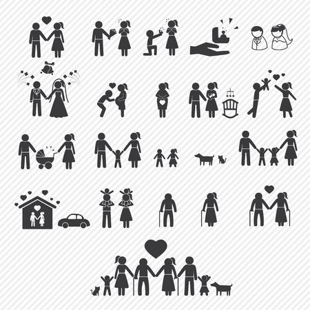 Ilustración de family icons set. illustration eps10 - Imagen libre de derechos