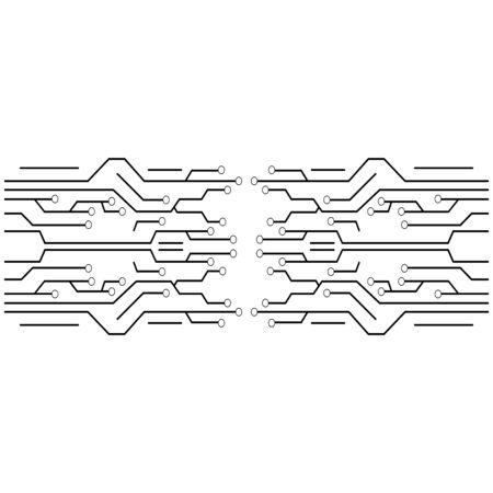 Illustration pour circuit logo template vector icon illustration design - image libre de droit