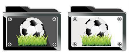 symbol of soccer ball business folder