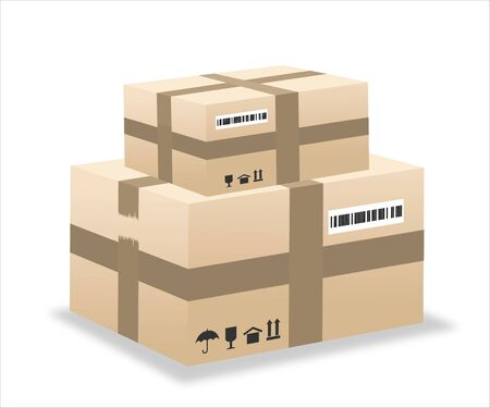 Illustration pour delivery box illustration - image libre de droit