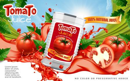 Ilustración de Tomato juice ads - Imagen libre de derechos
