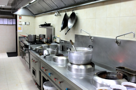 the professiona interiorl equipment kitchen in hotel