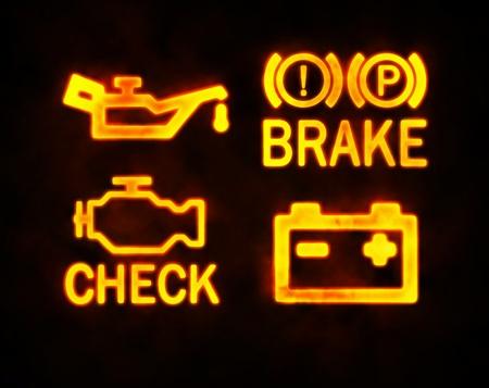 Dashboard car lights