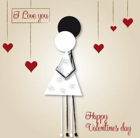 Illustration pour Happy valentine - image libre de droit