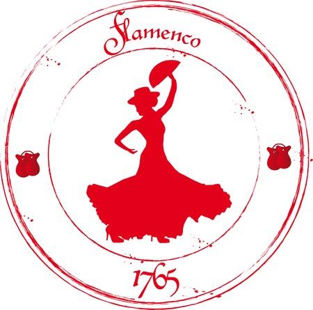 Illustration pour Flamenco dancer - image libre de droit