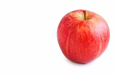 Photo for Fresh Organic Royal Gala Apple on White Background - Royalty Free Image