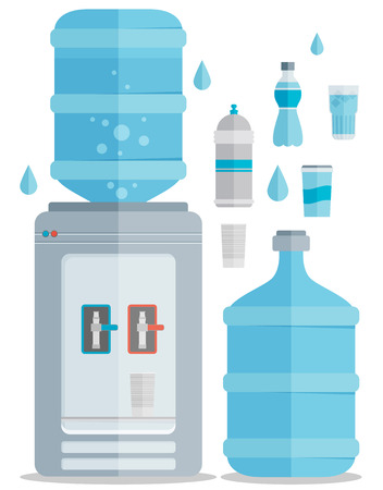 Flat vector icons set for water.
