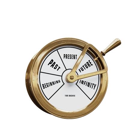 Photo pour Ship telegraph time machine going to the Future - image libre de droit
