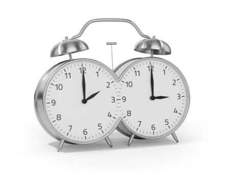 Foto de Daylight saving time begins in the spring by setting the clock forward one hour - Imagen libre de derechos