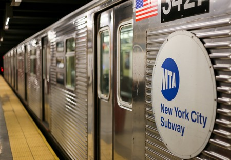 A Subway waits in New York City