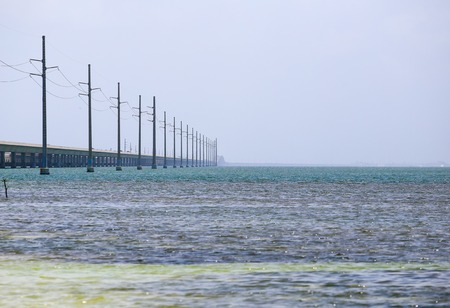 The Seven Mile Bridge in the Florida Keys connecting Knights Key to Little Duck Key.