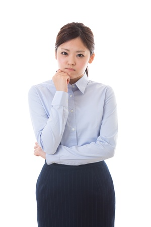 The young businesswoman who is troubled