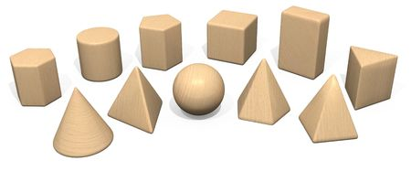 Solid Geometry Wooden Toy Blocks