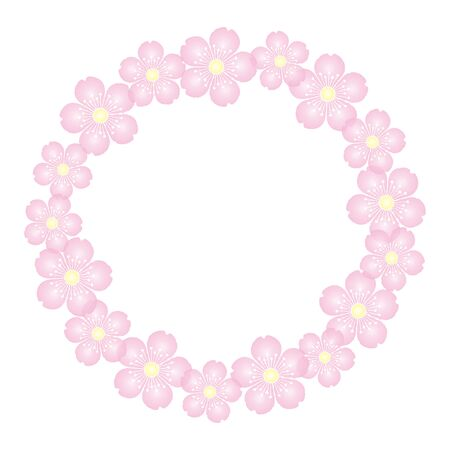 Illustration pour Cherry Blossoms Background Material Frame Illustration Vector - image libre de droit