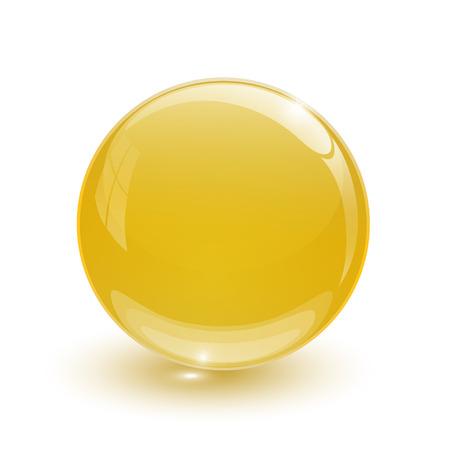 Amber blue glassy ball