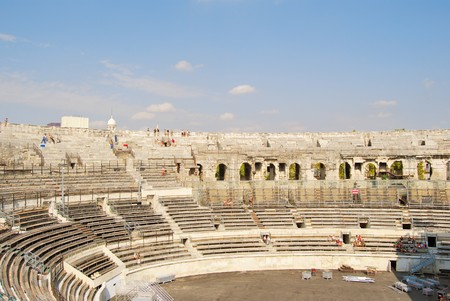 Nimes, in the southern France, is known for many roman monuments