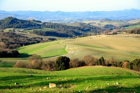 Photo pour Scenic view of typical Tuscany landscape, Italy - image libre de droit