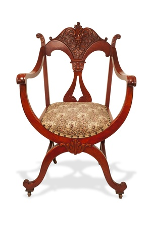 Antique Mahogany American Chair Made in the 1890