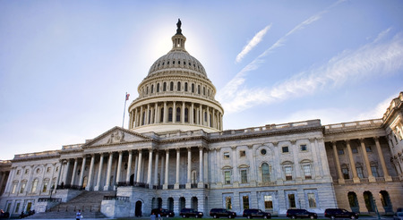 American Capital Building in Washington DC at Dusk.