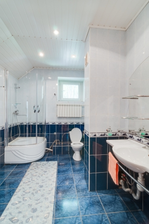 Bathroom in a modern cottage