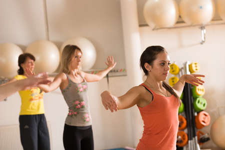 MOSCOW, RUSSIA - December 13, 2012 - Dance class for women at fitness centre