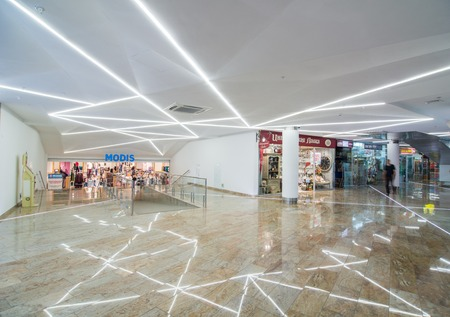 Contemporary modern store at large popular shopping mall