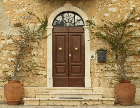 lovely tuscan front door, Italy