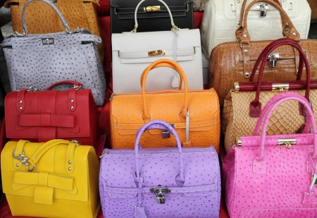 colorful elegant leather hand bags collection, Italy