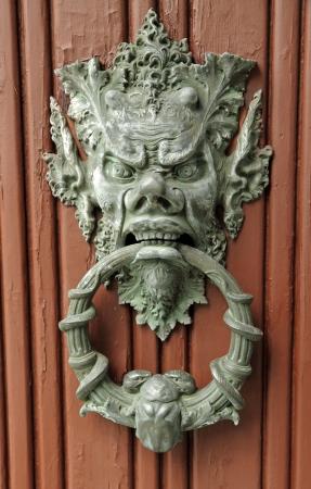 stylish bronze door knocker, Italy, Europe