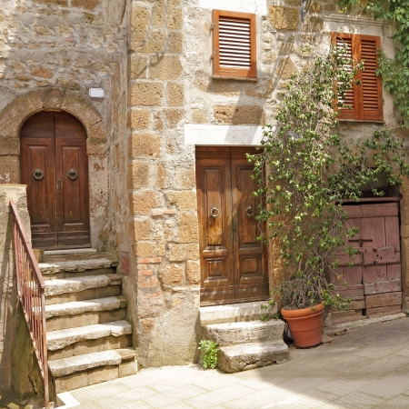 picturesque nook in italian  village Pitigliano, Europe