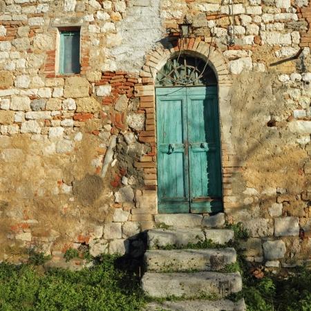 doorway to the tuscan farmhouse, Italy