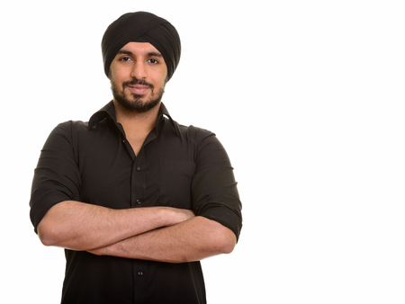 Photo for Portrait of young handsome Indian Sikh man - Royalty Free Image