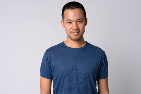 Photo for Portrait of young Asian man with short hair - Royalty Free Image