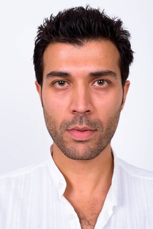 Photo for Face of handsome Turkish man looking at camera - Royalty Free Image
