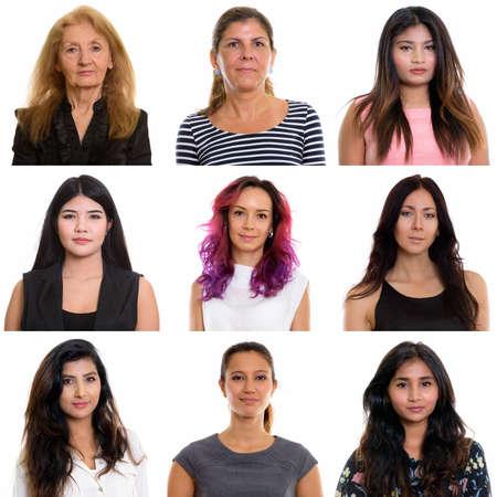 Photo pour Collage of multi ethnic and mixed age businesswomen - image libre de droit