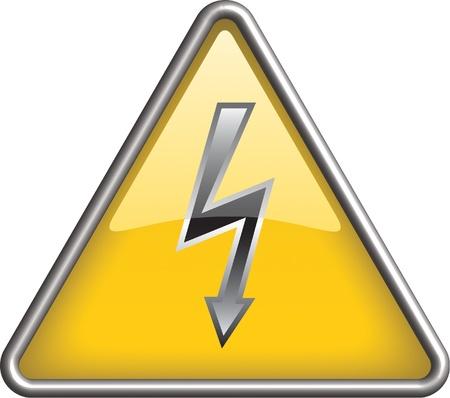 High voltage icon, symbol