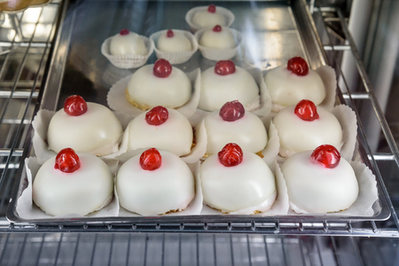 Minne di Sant'Agata, a typical Sicilian sweet shaped as a breast, representing the cut breasts of Saint Agatha