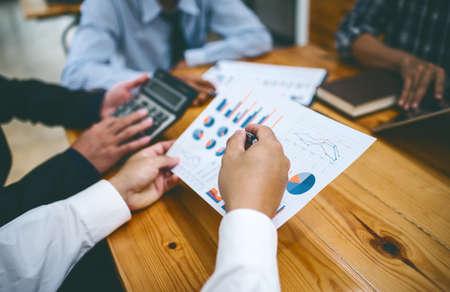 Foto de Business corporate people team working at office room. - Imagen libre de derechos