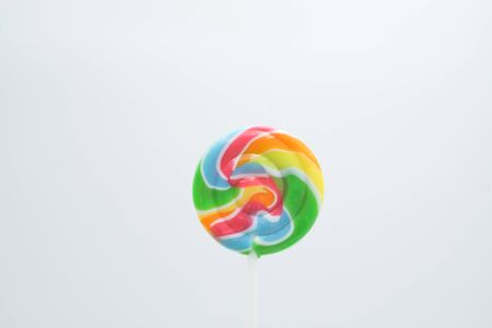 Lollipop shot on a white isolated background.