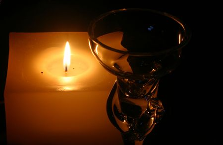 Candle with glass