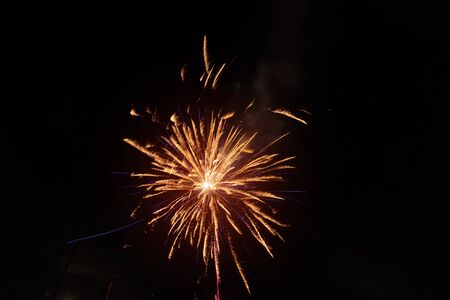Foto per bright fireworks against a night sky / fireworks night photo - Immagine Royalty Free