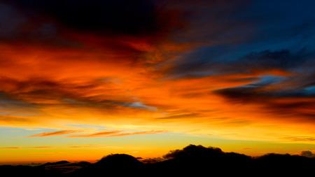 Sunrise in yushan national park