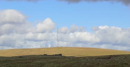 TV Mast Dartmoor in the sunshine