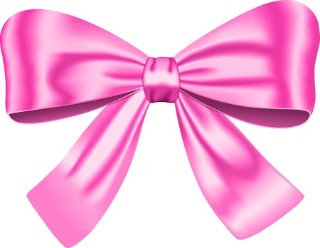 Illustration pour Pink gift bow isolated on white background. illustration. Ribbon - image libre de droit